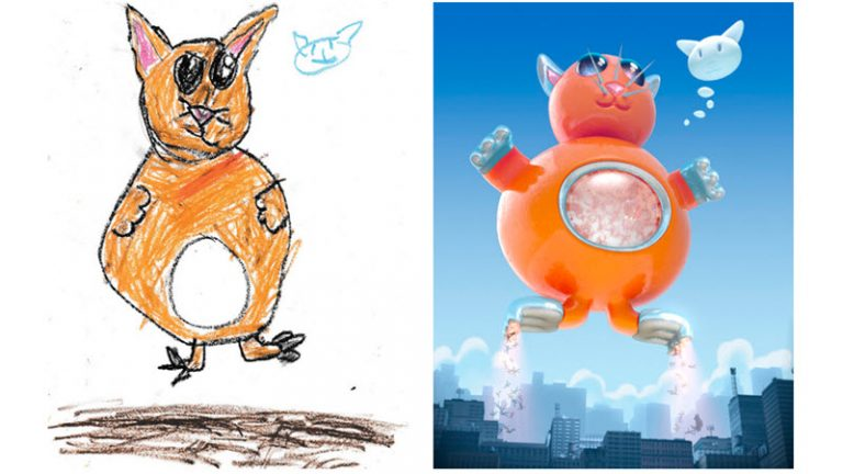 2D and 3D artists bring kid's drawings to life for The Monster Project 2017