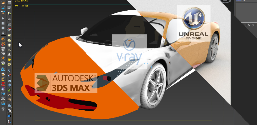 3dmax Vray To Unreal Engine Converter and Vertex Color Baker