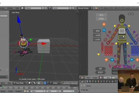 Create rig controls with the new Blender addon RigUI