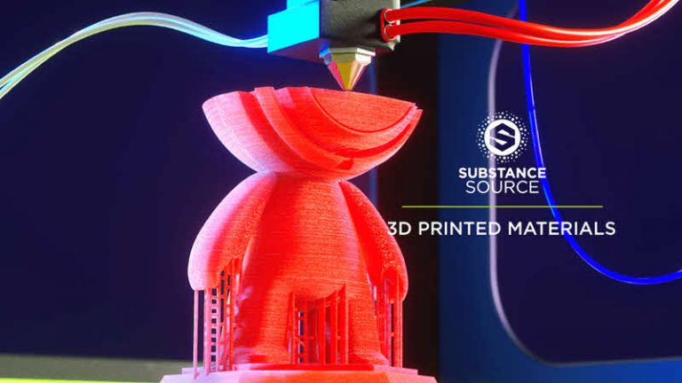 Substance Source update adds 50 materials inspired by 3D Printing
