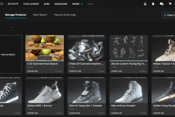 ArtStation Marketplace now available in Alpha