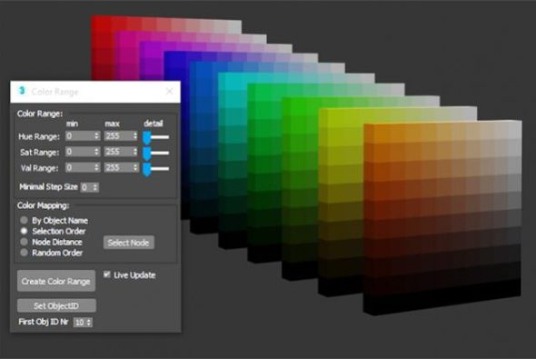 Mapped Wirecolor Range