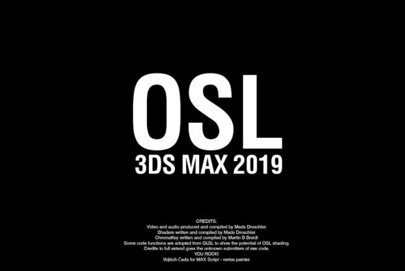 OSL shading in 3ds max 2019.